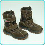 Cizme calduroase—impermeabile—comode, piele, NATURINO RainStep → baieti   nr. 31, Maro