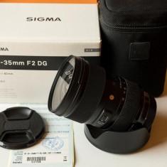 Vand Sigma 24-35mm f/2.0 DG HSM Art - montura Canon - Obiectiv DSLR