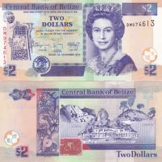 Belize 2 Dollars 2014 UNC - bancnota america