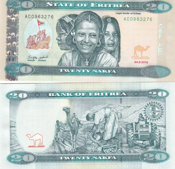 Eritrea 20 Nakfa 24.05.2012 UNC