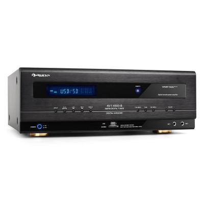 Auna HiFi Receiver USB SD MP3 Surround Amplificator 390W RMS foto