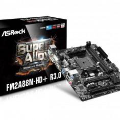 Placa de baza ASROCK AMD A88X, FM2A88M-HD+ R3.0, Dual Channel DDR3 Memory, 2* DDR3 DIMM Slots, DDR3 2400+(OC)/2133/1866/1600/1333/1066 non-ECC, bulk, Pentru AMD, MicroATX