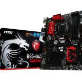 Placa de baza MSI Socket LGA1150, B85-G43 GAMING, Intel B85, 4*DDR3 1600/1333/1066, VGA/DVI/HDMI, 2*PCIEx3.0/2*PCIEx1/3*PCI, 4*SATA3, 2*SATA2, bulk, Pentru INTEL, ATX
