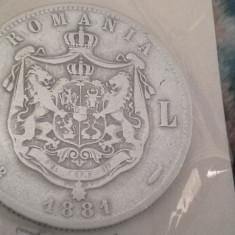 5 LEI 1881 FRUMOS DOMN /2 - Moneda Romania