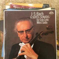 J.S. BACH 6 Suites/Sonatas for Solo Cello MILOS SADLO - SUPRAPHON - Muzica Clasica Supraphon, VINIL