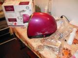 Masina de tocat Heinner MG1500TA-BG, 1600W, accesoriu rosii si carnati, visiniu