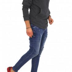 Bluza fashion barbati gri - COLECTIE NOUA 9612 - Pulover barbati, Marime: S, M, L, XL, Culoare: Din imagine, La baza gatului, Bumbac