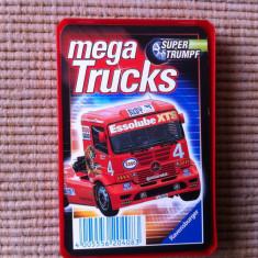Mega trucks camioane set cartonase carti joc colectie trumpf germany hobby