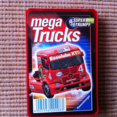 Mega trucks camioane set cartonase carti joc colectie trumpf germany hobby - Cartonas de colectie