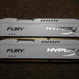 Memorie HyperX FURY White 16GB, DDR3, 1866 MHz, CL10, 1.5V, kit 2x8GB - Memorie RAM Kingston, Dual channel