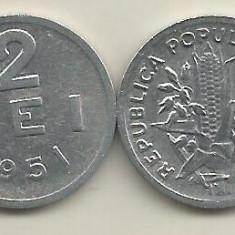 ROMANIA RPR 2 LEI 1951 [4] XF, livrare in cartonas - Moneda Romania, Aluminiu