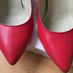 Pantofi dama - Pantof dama, Culoare: Rosu, Marime: 37, Cu toc