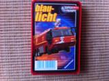 blue light set cartonase auto colectie carti joc masini politie salvare pompieri