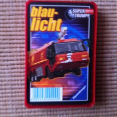 Blue light set cartonase auto colectie carti joc masini politie salvare pompieri - Cartonas de colectie