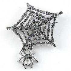 Broşă Spider Web - Brosa placate cu aur