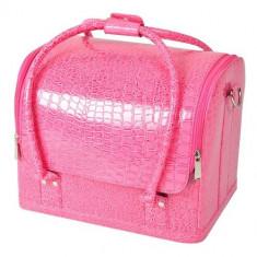 Geantă produse cosmetice Shiny Pink - Geanta cosmetice