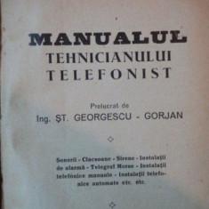 MANUALUL TEHNICIANULUI TELEFONIST de H. BLATZHEIM