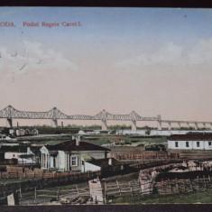 CERNAVODA PODUL REGELE CAROL I - circulata 1917 - Carte Postala Dobrogea 1904-1918, Fotografie