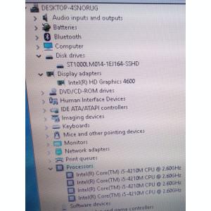 Laptop Fujitsu A544-Intel i5-4210M-2.60Ghz-8GB ram-1TB SSHD-15,6 inch display
