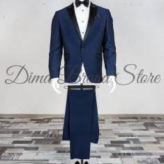 Costum ceremonie,barbati ,bluemarine , Slim Fit, Cod: Costum B.2083-310, lot:942-1 Clasic bluemarine (Culoare: Bluemarin, Marime Costum: 50)
