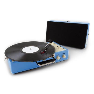 Auna nostalgie Buckingham înregistrare valiza retro AUX albastru foto