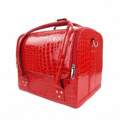 Geantă produse cosmetice Shiny Red - Geanta cosmetice