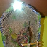 Iesle Craciun Decoratiune Ornament Sarbatori Iarna, Presepe Brad