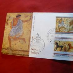Plic FDC - Arta Etrusca - Pictura 1975 San Marino