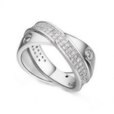 Inel zirconiu Double Rings - Inel Swarovski