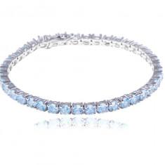 Brăţară Borealy Argint 925 Aquamarine Natural Tennis Bleu - Bratara argint