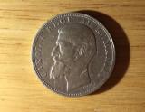 2 lei 1901 - monedă argint - tiraj 12.476 buc.