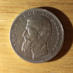 2 lei 1901 - monedă argint - tiraj 12.476 buc. - Moneda Romania