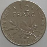 FRANTA KM#931.1 - 1/2 Francs 1984, Europa