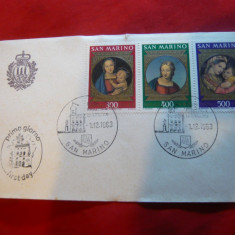 Plic FDC - Craciun - Pictura Rafael 1983 San Marino