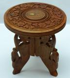 Micuta masa din lemn de trandafir - sculptura