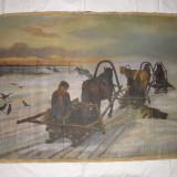 ULEI PE PINZA, TABLOU DIMENSIUNI MARI 70/109CM - Pictor roman, Peisaje, Altul