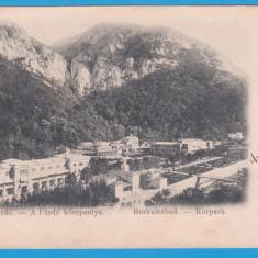 CARTE POSTALA BAILE HERCULANE - STAMPILA DIN 1899, TIMBRU MAI RAR, Circulata, Printata