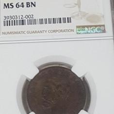 NGC 5 bani 1884 MS 64 BN - Moneda Romania