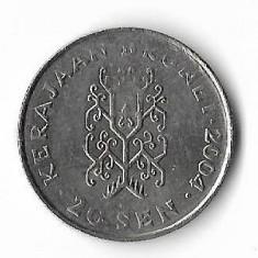 Moneda 20 sen 2004 - Brunei, Africa