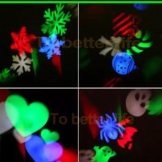 Laser craciun exterior instalatie jocuri de lumini LED Multicolor