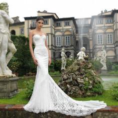 Vand rochie de mireasa Natalia Vasiliev stil sirena! inclus voal lung., Marime: 36, Culoare: Ivoire