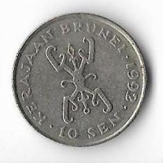 Moneda 10 sen 1992 - Brunei, Africa