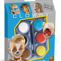 Ses Clowny - Set Pictura Pe Fata (6 Vopsele) - Animale - Jocuri arta si creatie