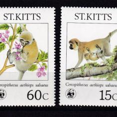 St. Kitts 1986 fauna maimute MI 184-187 MNH w46 - Timbre straine, Nestampilat
