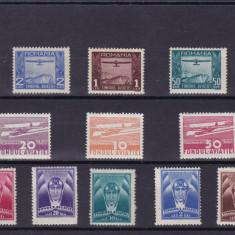 ROMANIA 1931/36, LOT TIMBRE AVIATIE 3 SERII MNH - Timbre Romania, Nestampilat