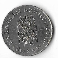 Moneda 20 sen 2010 - Brunei, Africa