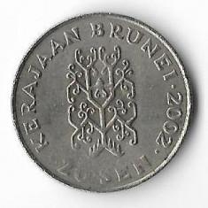Moneda 20 sen 2002 - Brunei, Africa