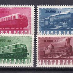 Ungaria 1946 locomotive MI 943-946 MNH w46, Nestampilat
