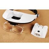 Ochelari sapca lupa 1.0X 1.5X 2.0X 2.5X 3.5X lupa ochelari led reparatii optica