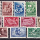 Ungaria 1948 aniversarea revolutiei MI 1000-1010 MNH w46, Nestampilat
